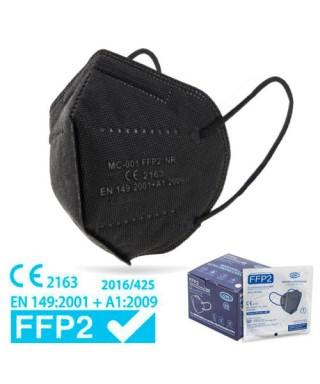 Paquete 25 mascarillas FFP2 CE negras