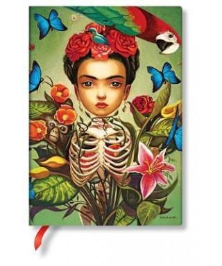 Libreta paperblanks Frida Midi rayado