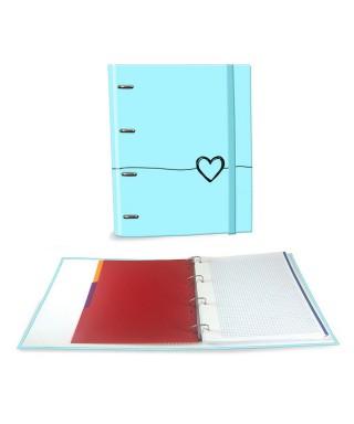 Ringbook A4 120h Heart azul
