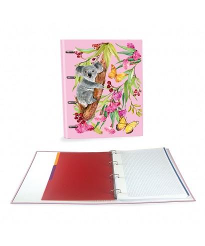 Ringbook A4 120h Koala rosa