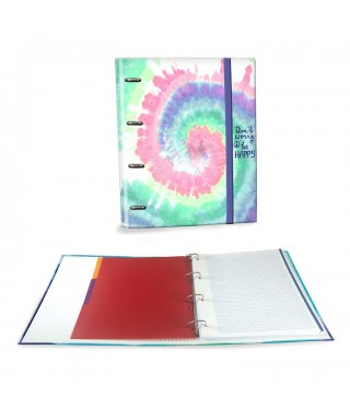 Ringbook A4 120h Tie Dye multicolor