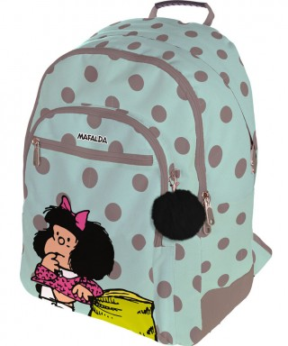Mochila Mafalda Rubber Dots. GRAFOPLAS