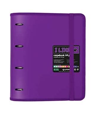Carpebook 4 anillas like violeta- GRAFOPLAS