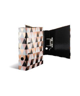 Archivador palanca A4 diseño geométrico coral HERMA