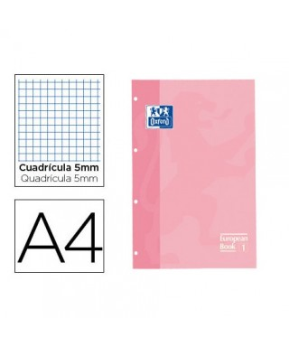 Recambio 90gr A4- 5x5 rosa OXFORD