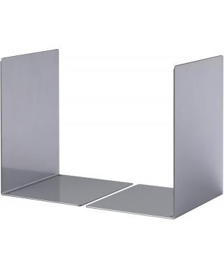 Juego 2 apoyalibros Durable plata metal