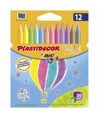 Caja 12 plastidecor Pastel