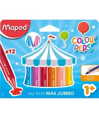 Ceras de colores Jumbo +1 año MAPED