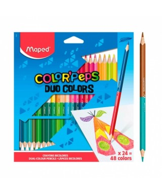Caja 24 lapices de colores duo Colorpeps. Maped