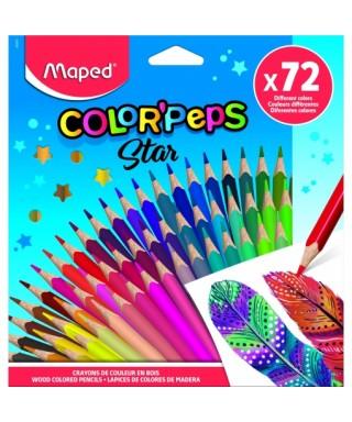 Caja 72 lápices de colores Maped