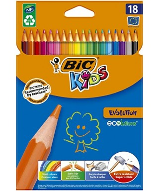 Caja 18 lápices color BIC KIDS EVOLUTION