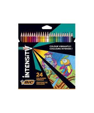 Caja 24 lápices colores BIC INTENSITY