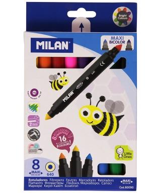 C- 8 rotuladores bicolor Maxi Milan