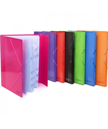 Carpeta 12 separadores violeta- GRAFOPLAS - 82213135