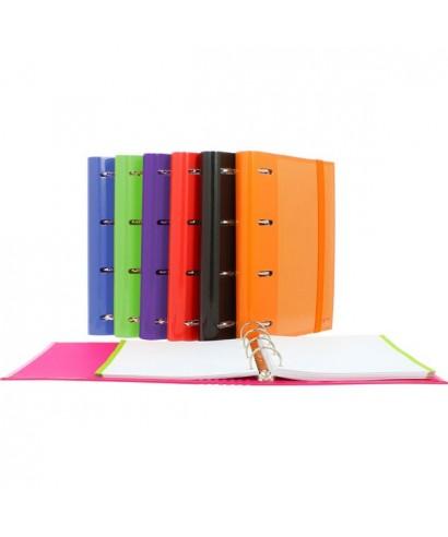 Carpebook 4 anillas 25mm rojo- 88112051