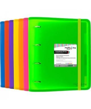 Carpebook 4 anillas 35mm polipropileno verde GRAFOPLAS