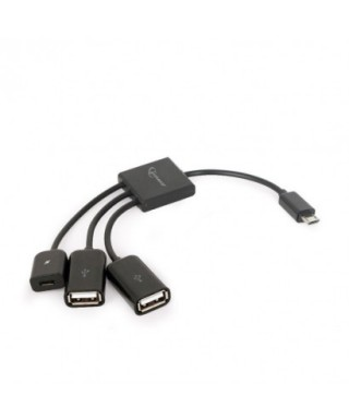 Cable adaptador OTG- 2 USB - UHB-OTG-02