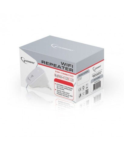 Repetidor WiFi, 300 Mbps, Blanco - WNP-RP-002-W