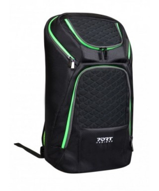 MOCHILA GAMING NEGRO / VERDE - PORT DESIGN