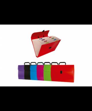 Maletín clasificador 12 separadores colores surtidos - 1549P