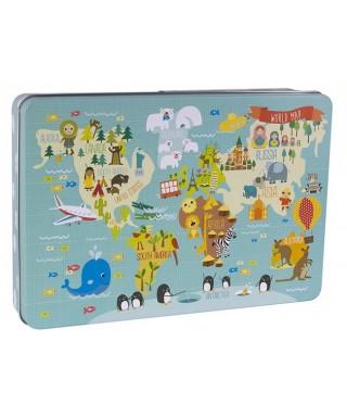 Puzle XL caja metálica MAPA MUNDI - APLI - 14550