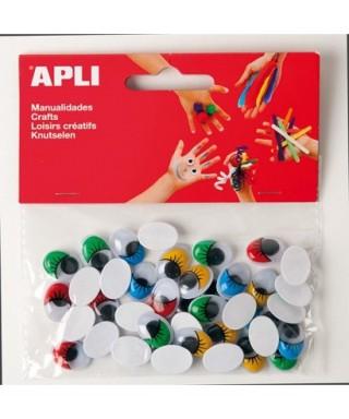 Bolsa ojos móviles colores - APLI - 13059