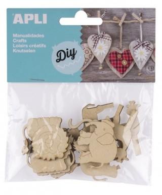 Bolsa formas madera animales – APLI - 14800