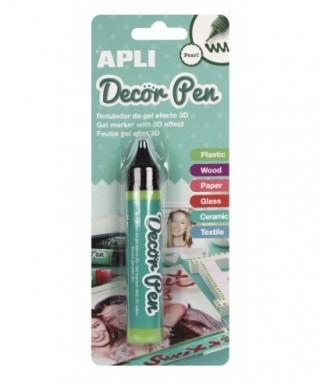 Blister rotulador gel 3D verde perlado – APLI - 15008