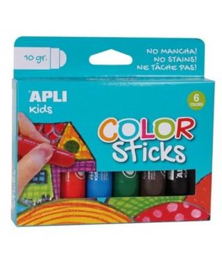Blister témperas sólidas stick  surtido– APLI - 14227