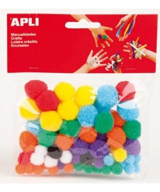 Bolsa pompones surtidos - APLI - 13061