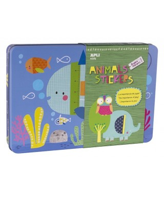 Caja metal stickers ANIMAL - APLI - 14827
