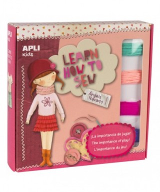 Juego costura LEARN HOW TO SEW - ANGELS NAVARRO - APLI - 14841