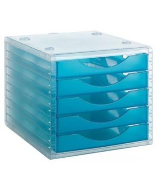 Módulo 5 cajones archivotec azul laguna- ARCHIVO 2000 - 4005 LG TL