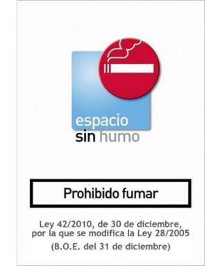 """Cartel """"PROHIBIDO FUMAR""""- ARCHIVO 2000 - 6175-04 SU"""