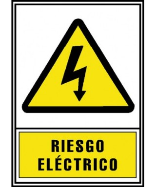"""Cartel """"RIESGO ELÉCTRICO""""- ARCHIVO 2000 - 6172-03 AM"""