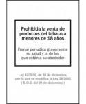 """Cartel """"PROHIBIDA LA VENTA DE TABACO....""""- ARCHIVO 2000 - 6175-01 NE"""