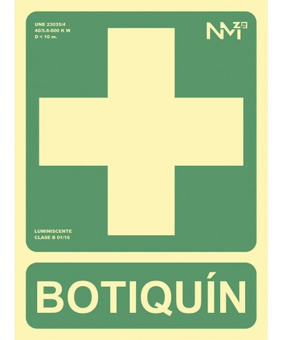 "Cartel ""BOTIQUÍN""- ARCHIVO 200 - 6170-05H VE"